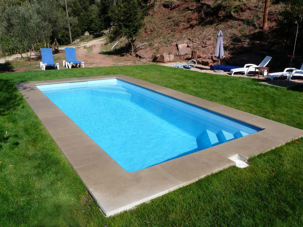 precio de piscinas de poliester finest with precio de