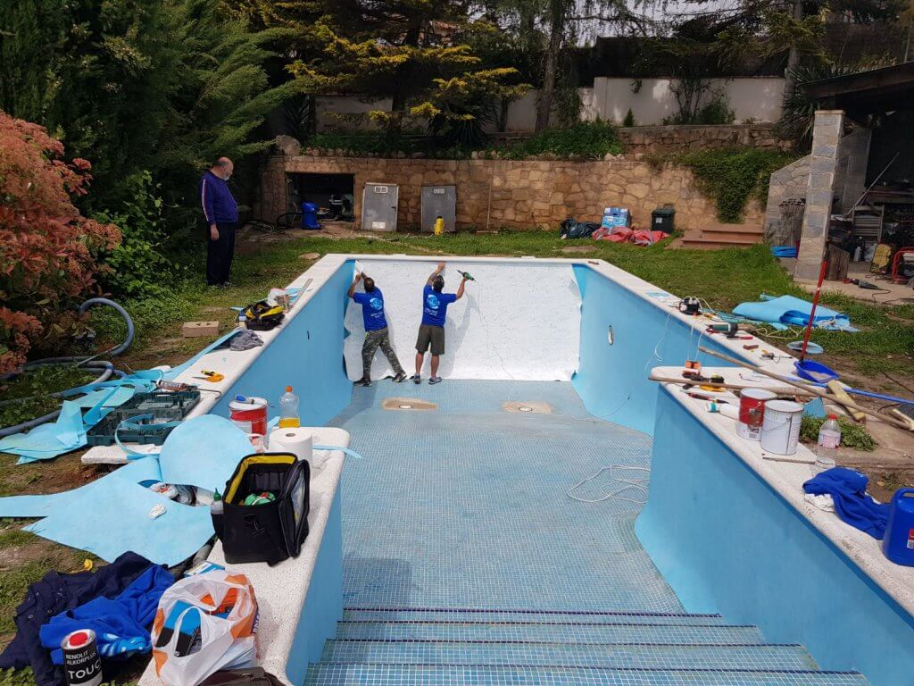 Rehabilitacion piscina con lámina armada 1